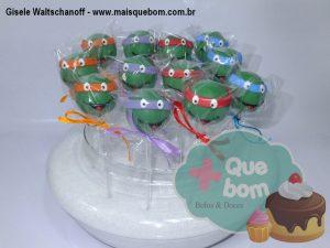 cakepop Tartarugas Ninja