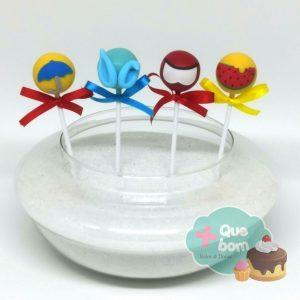 cakepop Turma da Mônica